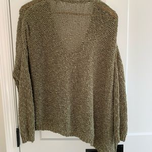 Free people knit sweater olive
